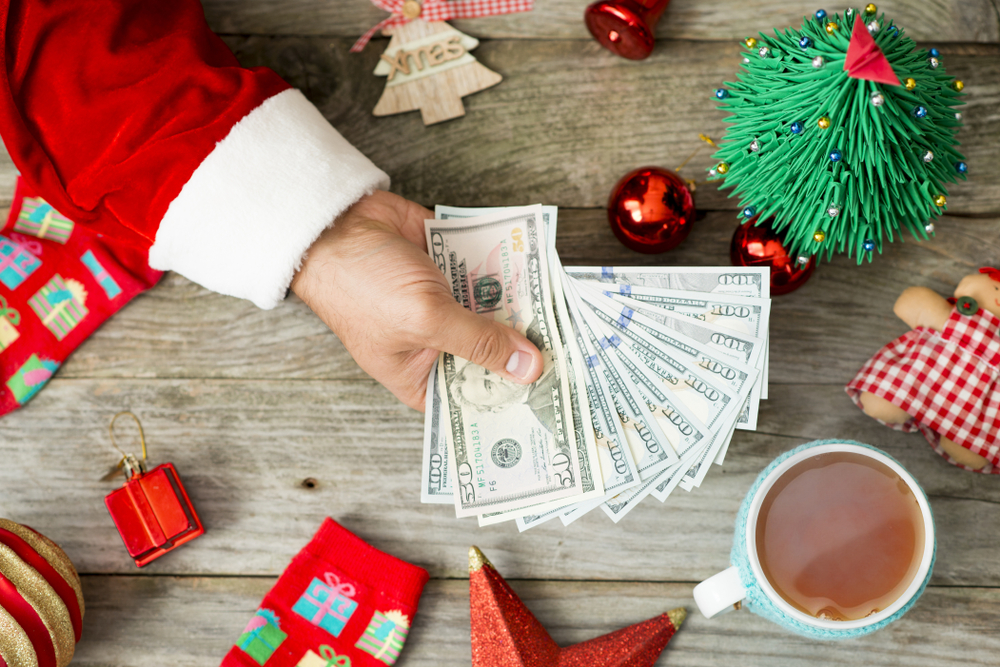 Santa Hand Giving Alternative Lending Opportunities